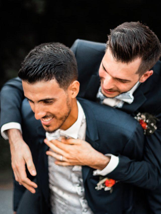 Photographie de mariage prise lors de la séance couple de Romain & Jérémie à leur mariage