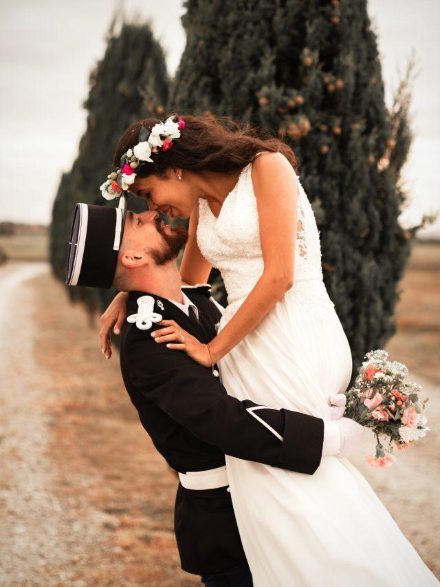 Séance couple lors du Mariage de Willene & Steve immortalisée par la photographe de Mariage Emeline CAUDESAYGUES
